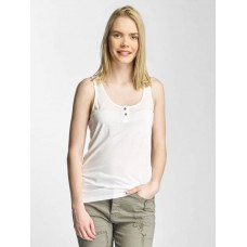 Khujo Women Tank Tops Elina in white Round neckline with button closure 1486TO171109 CCURGSJ