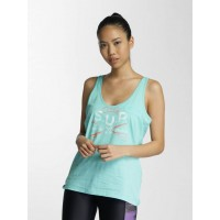 Oxbow Women Tank Tops Stilly in turquoise Finely ribbed round neck OXV048275XGIVR FVUYQGR