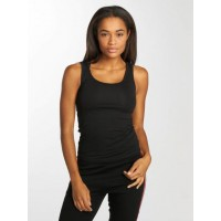 Urban Classics Women Tank Tops 2-Pack Basic in black Black 95% cotton 5% spandex wide straps TB1907BLK JMNPJGF