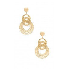 Ettika Art Deco Earrings im Gold Ineinander greifendes Detail Länge ca. 10 cm ETTI-WL482 THZQFZW