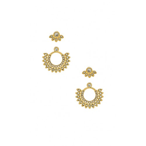 Luv AJ The Cosmic Flare Studs Set im Antique Gold Kristallakzente Set von 2 LUVA-WL403 HEHPDXG