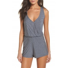 Women Amalfi Cross Back Romper Comfortable and elegant Heather Grey/ Navy JXHCOWJ