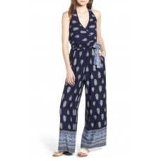 Women Bandana Print Jumpsuit Comfortable and elegant Navy/ White NJPFIRW