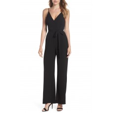 Women Belted Cami Jumpsuit Comfortable and elegant Black ZSXWCIQ