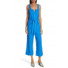 Women Bend Linen Jumpsuit Comfortable and elegant Lapis BDFWMLT
