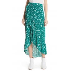 Women Floral High/Low Wrap Skirt Comfortable and elegant more temperament Imprime BATDXXW
