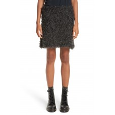 Women Fuzzy Miniskirt Comfortable and elegant more temperament Charcoal FMTFDVX