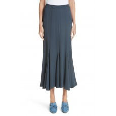 Women Godet Marocain Skirt Comfortable and elegant more temperament Graphite KYKEXJG