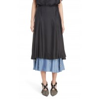 Women Polka Dot Hem Skirt Comfortable and elegant more temperament 26/ Black FTTDGOH