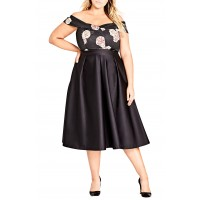 Women Sateen Midi Skirt Comfortable and elegant more temperament Black VRWMBVE