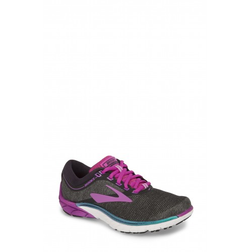 BROOKS Women PureCadence 7 Road Running Shoe Black/ Purple/ Multi QODPBTL