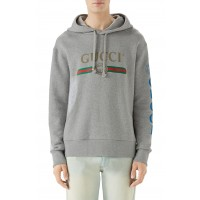 Men Vintage Logo Embroidered Pullover Hoodie Perfect color comfortable cutting Medium Grey CXBLQYO
