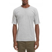 Men Reversible Double Layer T-Shirt Perfect color comfortable cutting Light Grey TUWGBJT