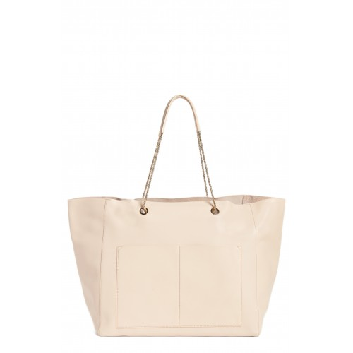Women Gaby Leather Tote Comfortable and elegant Nude GCYJYSV
