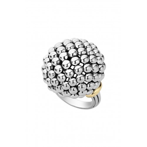 Women 'Caviar Forever' Large Dome Ring Comfortable and elegant Silver/ Gold EYUQXES