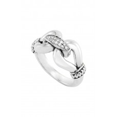 Women 'Derby' Large Diamond Ring Comfortable and elegant Sterling Silver AHVIQVF