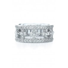 Women 'Jasmine' Floral White Gold & Diamond Ring Comfortable and elegant White Gold IDMBBEX