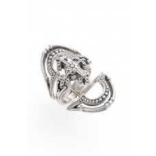 Women 'Penelope' Openwork Ring Comfortable and elegant Silver DRFOIRP