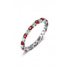 Women Simulated Diamond Birthstone Band Ring Comfortable and elegant April / Crystal RULKMTV