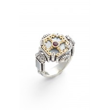 Women Sterling Silver & Ruby Ring Comfortable and elegant Silver/ Gold/ White ZCNCDCB
