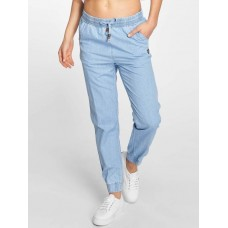 Alife & Kickin Alife & Kickin Women Sweat Pant Alicia A in blue side pockets with logo patch and emblem 22180LIGDEN CLFVULX