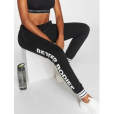 Better Bodies Women Sweat Pant Madison in black Drawcord on the outside of the elastic waistband provides a firm hold BB110853999 LEWQNXD