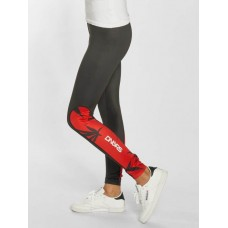 Dangerous DNGRS Women Legging/Tregging Woodpeace in red black / red 95% polyester 5% spandex elastic waistband at leg and hip ends DLLP072RED UZTTZBO