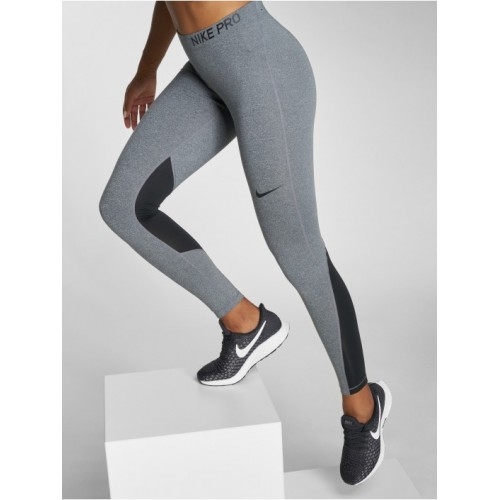 e9788dad55a8be Nike Performance Women Legging/Tregging Pro Tights in grey elastic waistband  with logo print provides excellent ...
