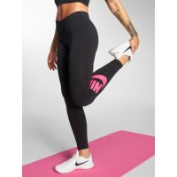 Nike Women Legging/Tregging Leg-A-See in black black / pink 57% cotton 32% polyester 11% spandex elastic waistband for a snug fit AH2010015 FMBUFRZ
