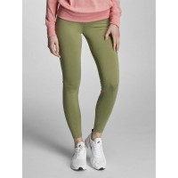 Nike Women Legging/Tregging Leg-A-See Logo in olive green / pink 57% cotton 32% polyester 11% spandex figurbetont 806927387 TKQVIMT