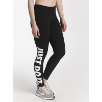 Nike Women Legging/Tregging Sportswear Legasee in black black / white 57% cotton 32% polyester 11% spandex Stretch waistband with logo print inside for a natural fit AH2008010 ABTEJXT