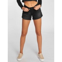 Noisy May Women Short nmBe Fran Raw Edge in black Closure: zipper with button 27002018BLK FROKDTS