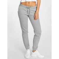 Urban Classics Women Sweat Pant Shorty in grey Drawstring outside on the wide elastic waistband TB1985GRY XVYCEPZ