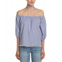 Women Blvd Off-The-Shoulder Top Approximately 22in from shoulder to hem Indigo 455563001 SHMZGTH