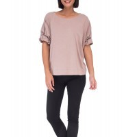 Women Bobeau Van Roll Sleeve Tee This cotton t-shirt from B Collection by Bobeau is so soft you'll want to wear this everyday. Rolled hem sleeves for an added detail and feminine touch. Center back seam and crew neckline! CHAMPAGNE 494983601 NKPZIZR