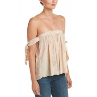 Women On Twelfth Smocked Top Approximately 16in from shoulder to hem Beige 463447801 ETHUACG