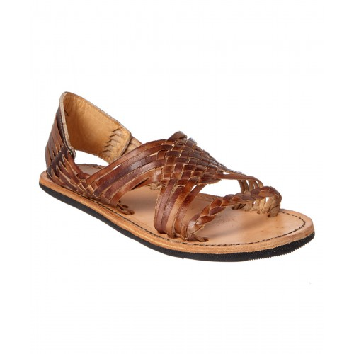 Women Bed Stu Avery Leather Sandal Sexy and elegant Brown Style # 499319901 TMIBVOA