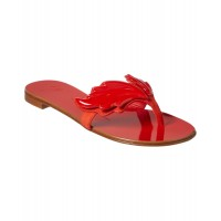 Women Giuseppe Zanotti Nuvorock Wingsuede Thong Sandal Sexy and elegant Red Style # 493650101 BTKKWGT