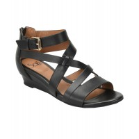 Women Sofft Richmond Leather Wedge Sandal Sexy and elegant NoColor Style # 490669401 KMTMPAP