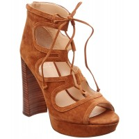 Women Vince Camuto Kamaye Suede Sandal Sexy and elegant Brown Style # 460529601 YQWBVNN
