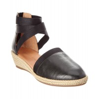 Women Gentle Souls Noa-Beth Leather Wedge Sexy and elegant Black Style # 491193301 BKKXKCI