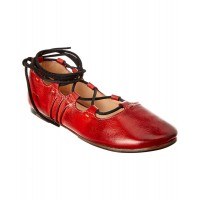 Women Bed Stu Margot Leather Flat Sexy and elegant Red Style # 499420801 BQYMYVR