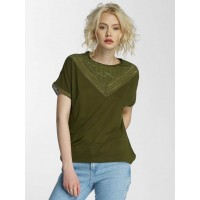 JACQUELINE de YONG Women T-Shirt jdyCarly in olive olive 65% Polyester 35% Viscose Round neckline with finely ribbed edge 15130013DKOLI GGOQSOF