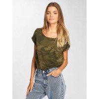 Urban Classics camouflage 60% cotton 40% polyester ribbed crew neck TB1635OLVCAM RANQYSE