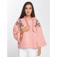 Only Women Hoodie onlClair 3/4 in rose pink 60% cotton 40% polyester large hood with drawstring for width adjustment 15157494BLS SVEFNXK