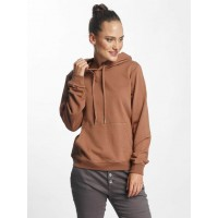 Pieces Women Hoodie pcNesta in brown Crossed hood with drawstring 17084016CLOV RRFATPD