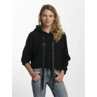 Sixth June Women Hoodie Cropped in black Black 65% cotton 35% polyester large hood with drawstring for width adjustment W2974VSWBLK HDIWWRL