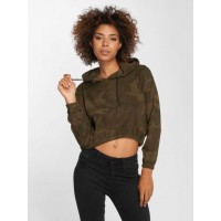 Urban Classics Women Hoodie Camo Cropped in camouflage camouflage 60% cotton 40% polyester Hood with drawstring TB1636OLVCAM RIPILDE