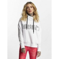 Yakuza Women Hoodie Daily Use Mesh in white contrasting hood with drawstring for width adjustment GHOB11103WHT UFJQMMB