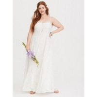 V-neck; V-back Sleeveless; adjustable straps Trapeze silhouette Women Special Occasion White Lace Trapeze Dress 11293775 CPCPXAI